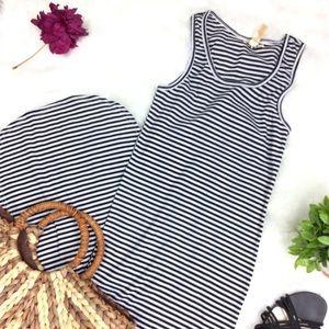 NYC Striped Maxi Slit Leg Dress Size Small